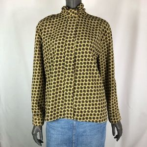 Vintage Jones New York polyester longsleeve blouse